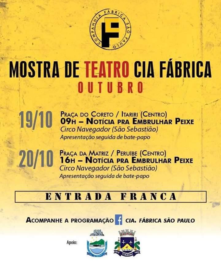 Mostra de Teatro  Cia Fábrica em Peruíbe
