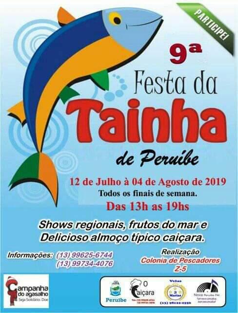 Festa da Tainha do Portinho em Peruíbe