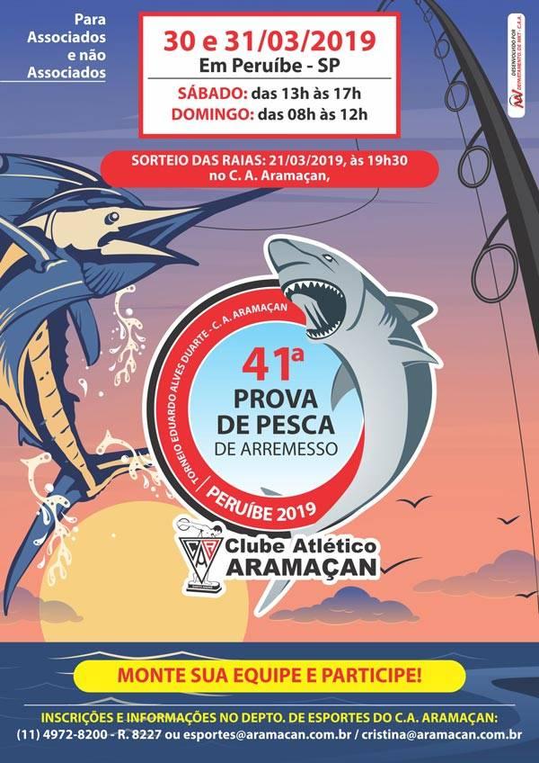 Prova de Pesca de Arremesso CLUBE ARAMAÇAN